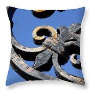 Wrought Iron Throw Pillow