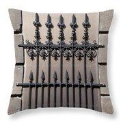 Wrought Iron Window Grille Throw Pillow