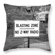 Wtc Blasting Sign Throw Pillow