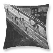 Wtc Going To Work Throw Pillow
