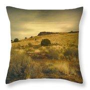 Wupatki National Monument-bench Throw Pillow