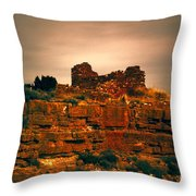 Wupatki National Monument-ruins V13 Throw Pillow