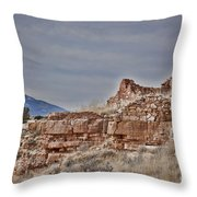 Wupatki National Monument-ruins V15 Throw Pillow