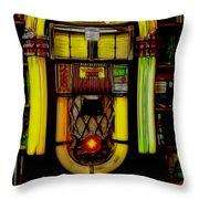 Wurlitzer 1946 Jukebox - Featured In Comfortable Art Group Throw Pillow