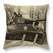 Ww II Battle Of The Bulge 02 Throw Pillow
