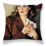 Ww II: Employment Service Throw Pillow