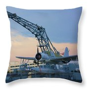 Ww II Sea Plane Throw Pillow