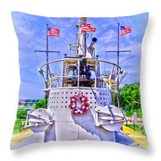 Ww II Submarine Memorial Throw Pillow