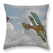 Ww1 - Fighting Colours Throw Pillow by Pat Speirs