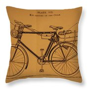 Ww1 Military Bicycle Throw Pillow