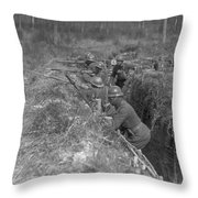 Wwi Black Troops, 1918 Throw Pillow
