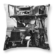 Wwi British Carrier Pigeon Loft Throw Pillow