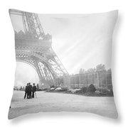 Wwi Eiffel Tower, C1914 Throw Pillow
