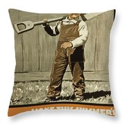 Wwi Farming C1915 Throw Pillow