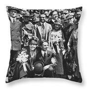 Wwi Liberty Loan Drive Throw Pillow