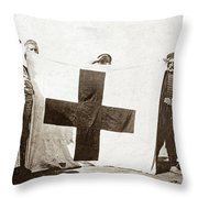 Wwi Refugees, 1914 Throw Pillow