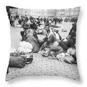 Wwi Refugees, C1914 Throw Pillow