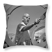 Wwii Home Front Worker Throw Pillow