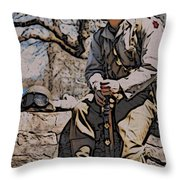 Wwii Soldier Two Throw Pillow