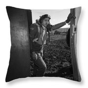 Wwii: Tuskegee Airman, 1945 Throw Pillow