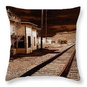 Rails West Throw Pillow