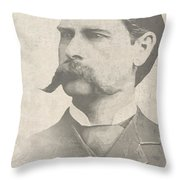 Wyatt Earp U. S. Marshal Throw Pillow