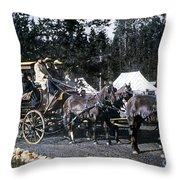 Wylie Coach Yellowstone National Park Throw Pillow