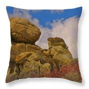 Wyoming Badlands Rock Detail Two Throw Pillow