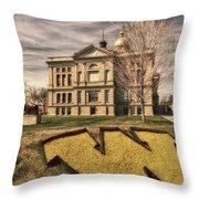 Wyoming Capitol Building Throw Pillow