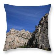 Wyoming Mountain Peaks Throw Pillow