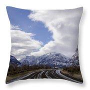 Wyoming Road Throw Pillow