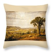 Wyoming Valley. Pennsylvania Throw Pillow