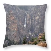 Wyoming Waterfall Throw Pillow