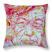 Wystan Auden  Watercolor Portrait Throw Pillow