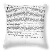 Wythe: Broadside, 1774 Throw Pillow