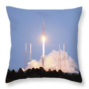 X-37b Orbital Test Vehicle Lifts Off Throw Pillow
