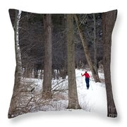 X-country Mendon Ponds Throw Pillow