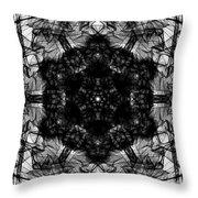 X-ray Of A Snowflake Throw Pillow