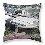 Xcel Energy Center In St. Paul Minnesota Throw Pillow