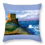 Xlendi Tower - Gozo Throw Pillow