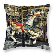 Xmas Carousel Throw Pillow