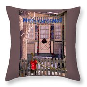 Xmas House 1 Throw Pillow