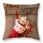 Xmas Stockings Throw Pillow