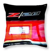 Xxl Chevrolet 2014 Z28 Tail Light Throw Pillow