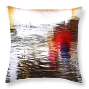 Floating On Blue 31 Throw Pillow