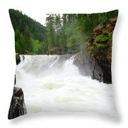 Yaak Falls Throw Pillow