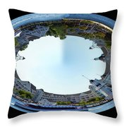 Yacht And Beach Club Walt Disney World Oval Image Throw Pillow