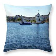 Yacht And Beach Club Wdw Throw Pillow