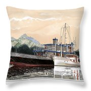 Alaskan Sunrise Throw Pillow