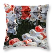 Yacht Club Buoys 4 Throw Pillow